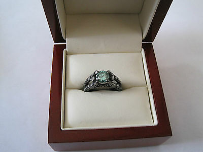 Beautiful 1.06 ct Moissanite Engagement Wedding Ring .925 Sterling