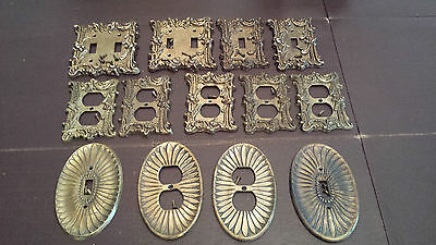 Lot Of Vintage Brass Outlet Covers Light Switch Covers Edmar Lot Of 13