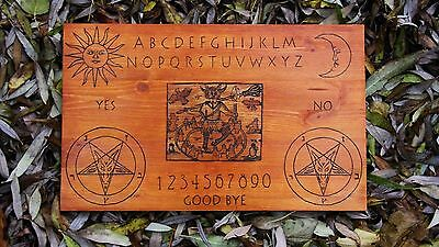 """handmade wooden ouija board """"Wicked one"""" with planchette"""