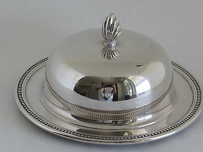 Vintage Oneida Silverplate Round Covered Butter Dish