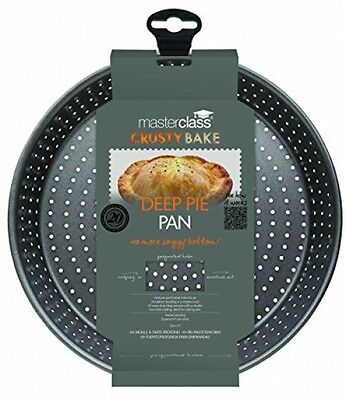 Non-Stick Round Pie Dish Deep Pie Pan Tart Tin Crusty Bake 23cm Kitchen Baking