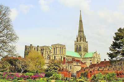 "12x18"" Print of Chichester Cathedral available in colour or B&W."