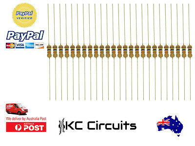 25pcs 10k Resistor Carbon Film 1/4 Watt