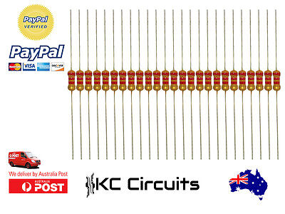 25pcs 2.2k ohm Resistor Carbon Film 1/4 Watt