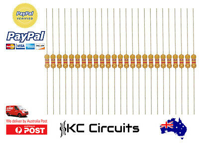 25pcs 4.7k Resistor Carbon Film 1/4 Watt