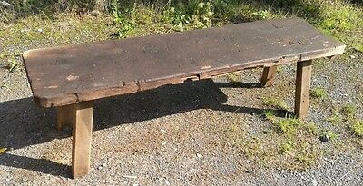vintage antique pig bench rustic farmhouse seat outdoor chair wooden