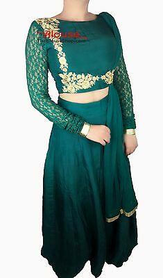 Lehnga Indian Party Wear Designer Lengha Choli Bollywood Lehenga Dress skirt Top