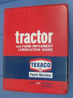 TEXACO FARM SERVICE Tractor & Farm-Implement Lubrication GUIDE 1970 Manual Book