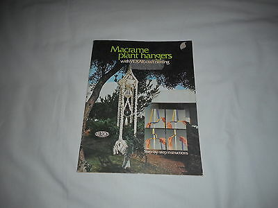 MACRAME PLANT HANGERS step by step instructions VINTAGE 1970S MACRAME BOOK