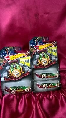Hot Wheels 2017 Happy New Year Carbonator Lot of 3 Exclusive Holiday Cars New