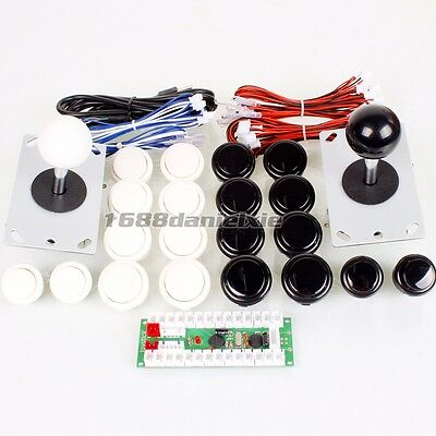 Both Player USB Controls To PC 2 Joystick 20 Push Buttons Arcade Game kits Parts