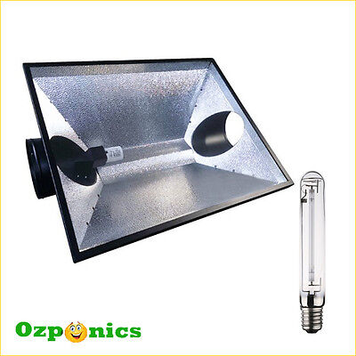 5x HYDROPONICS AIR COOLED REFLECTOR THE HOOD XL 6 WITH FREE HPS 600W GROW LIGHT