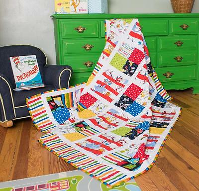 "Robert Kaufman -Celebrate Seuss IV Pairs of Squares Quilt  Kit - Size 60"" x 79"""