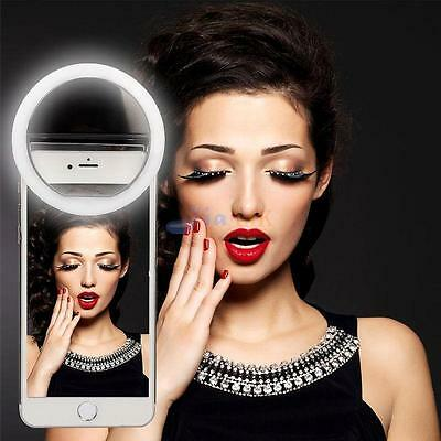 Selfie Portable Flash Led Camera Phone Photography Ring Light for iPhone Samsung