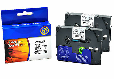 2 x TZe-231 Nextpage Label Tape TZ-231 12mm x 8m compatible for Brother P-touch
