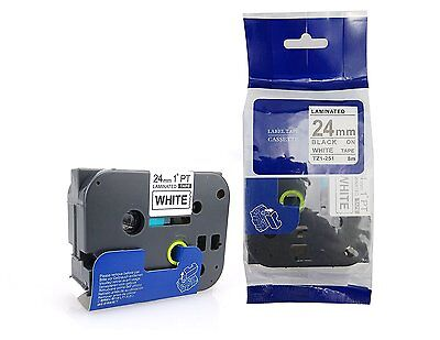 Nextpage Label Tape TZE251 (24mm x 8m) compatible Tze-251 for Brother P-touch