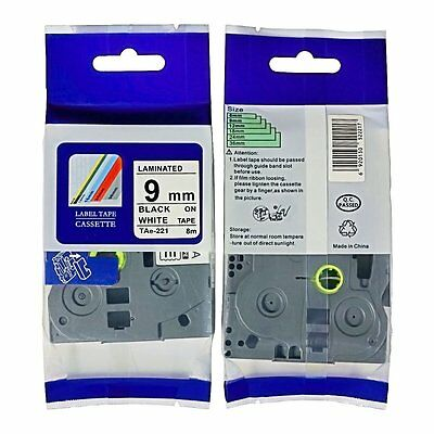 4x tze-221 Nextpage Label Tape TZE221 (9mm x 8m) compatible for Brother P-touch