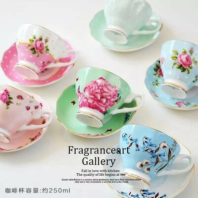 Royal English breakfast Tea Set/ Cup And Saucer/ Green flowers