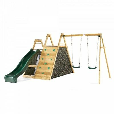 NEW Plum Wooden Climbing Pyramid Play Centre | Kids Outdoor Slide Swings Climb