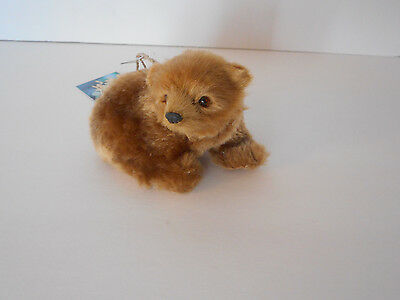 Adorable! sitting bear ornament Christmas holiday faux fur new with tags