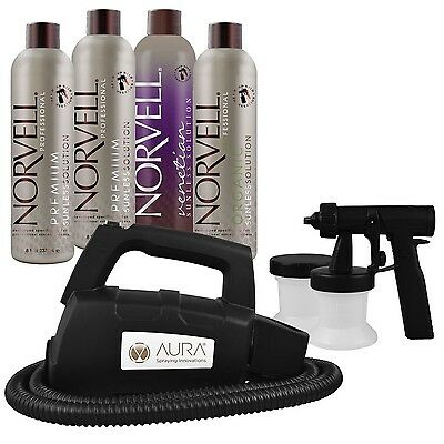 Aura Elite Compact Spray Tanning Machine with Norvell Solution Pack