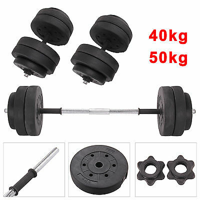 40 50kg Dumbbell Set Gym Weights Biceps Gym Workout Training Fitness Non-slip