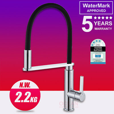 Swivel Pull Out Kitchen Mixer Shower Sink Basin Spout Spray Tap Faucet Chrome
