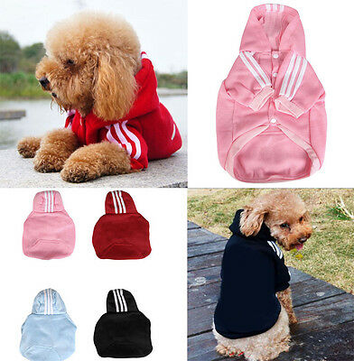 Pet Clothes Puppy Dog Coat Hoodie Sportswear Sweater Jacket Small Dogs Clothing