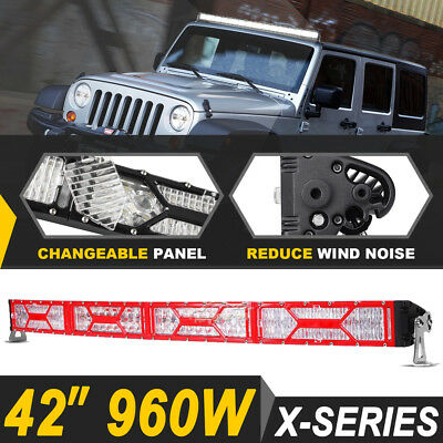 42inch 560W Curved CREE LED Work Light Bar Flood Spot Combo OFFROAD 4X4WD 45/50""