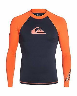 NEW QUIKSILVER™  Mens All Time Long Sleeve Rash Vest Rashie Rashvests