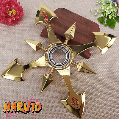 Anime Naruto Shuriken Metal Weapon Cosplay Rotatable Knife Model Props Dart