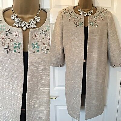 Monsoon Coat Size 14 BNWT Special OCC Evening Wear Mother Of Bride