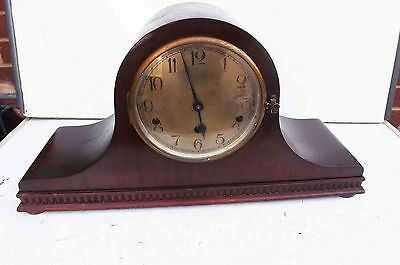 antique mantle clock Westminster chimes mahogany cased