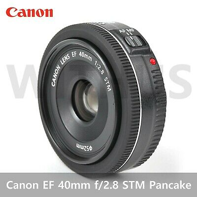 Canon EF 40mm f/2.8 STM Pancake Digital Camera Black Lens Bulk package