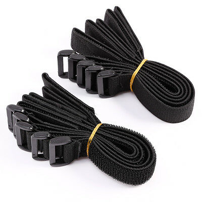 10pcs Organizador de cables Correas Tiras hebilla Black Cable Ties Nylon 30x3cm