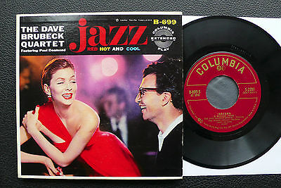 EP Dave Brubeck - Red Hot And Cool - US Columbia