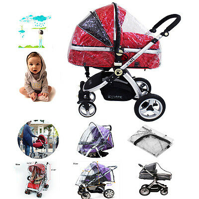 Hot Universal Rain Cover Rain cover for Pushchair Pram Stroller Buggy UK Seller