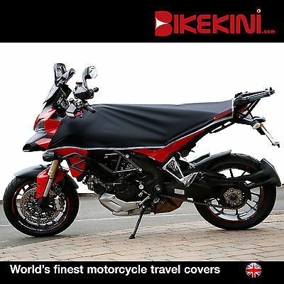 Adventure Dual-Sport motorcycle bike cover- travel size (BLACK/SILVER)