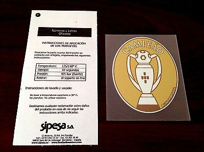 Liga Nos Campeao Benfica Champions Patch 2015-16 + 2016-2017 Soccer Jersey Badge