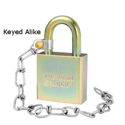 "American Lock A5200GLWNKA Government Padlock with 9"" Chain, Keyed Alike"