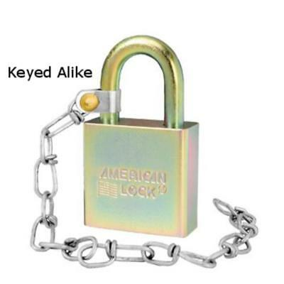 "New American Lock A5200GLWNKA Government Padlock with 9"" Chain, Keyed Alike"