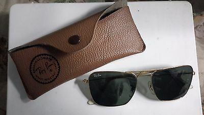 RAY BAN BAUSCH & LOMB CARAVAN 58mm SUNGLASSES OCCHIALI LUNETTES 80'S VINTAGE USA