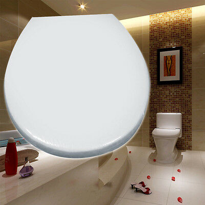 White Toilet Seat Soft Close | Heavy Duty | Top Fixing Hinges | Hotel Quality