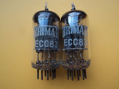 1960/s  2 X MATCHED ECC83 12AX7 ORIGINAL BRIMAR NOS NEW!!!!! TUBE TESTED 100%%