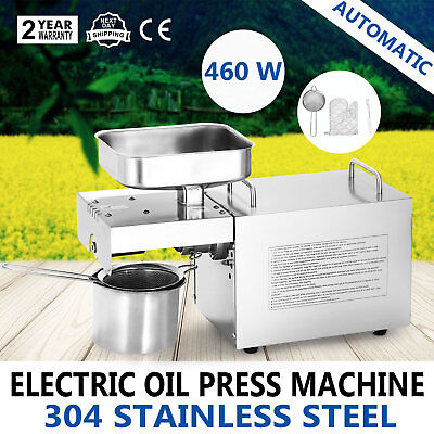 Automatic Homemade Oil Press Machine Expeller Stainless Steel 304 Food Grade