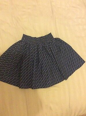 Girls Next Navy Blue Silk Skirt Age 6 Years Vgc Wore Once Party
