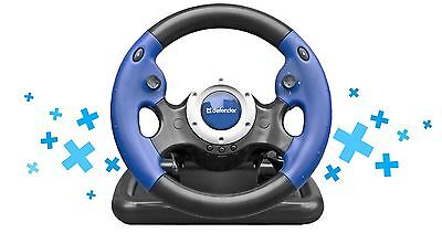 DEFENDER Gaming wheel CHALLENGE TURBO GT USB 10 buttons gear stick