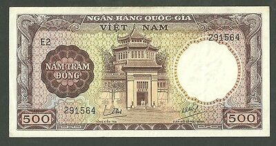 South Vietnam 500 Dong Pick 22 Currency Note Paper Money AU