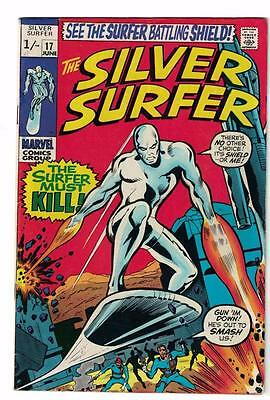 MARVEL Comics SILVER SURFER  Issue #17 Galactus Fantastic four FN- 1970