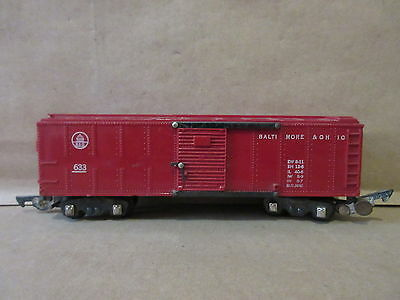 American Flyer Train 633 Baltimore and Ohio Box Car Tuscan S-Gauge